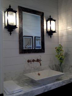 So clean 2013 NW Street of Dreams Basement Bathroom, Bathroom Ideas, Interior Design Boards, Subway Tile, Small Bathrooms, Mirror, Inspire, Interiors, Dreams