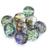 9 geschliffene Glasperlen | Crystal Vitrail | 10mm *pe4241 - JAUL.biz Perlen und Glas