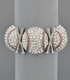 Etsy.com stretch bracelet #baseball jewelry