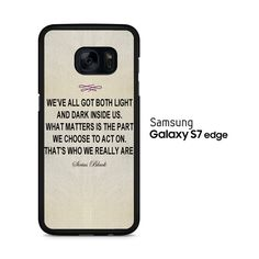 Harry Potter - Sirius Black Quote Samsung Galaxy S7 Edge Case