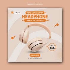 Sale Banner, Web Banner, Banners, Balloon Template, Banner Template, Social Media Banner, Social Media Template, Headphones For Sale, Facebook Cover Template