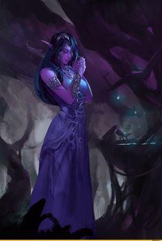 Tyrande Whisperwind Priestess Of Elune Artist Jav Lee
