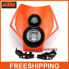 KTM XR WR CR RMZ KLX Headlamp 250cc Motorcycle 300cc Motocross Supermoto Universal LED Headlight Headlamp Enduro Road Legal -in Decals & Stickers from Automobiles & Motorcycles on Aliexpress.com | Alibaba Group