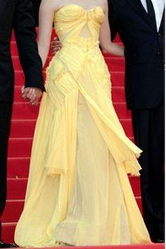 Zac Posen Couture Strapless Yellow Gown Profile Photo