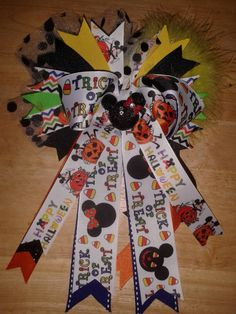 Mickey/Minnie Halloween Hairbow by ILoveYouMoreCreation on Etsy
