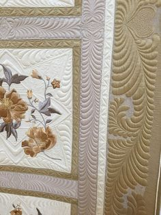 """""""Cappuccino - Perfect Bliss"""" by Lynda Jackson.  Closeup photo by Annelize Littlefair : Festival of Quilts 2015"""