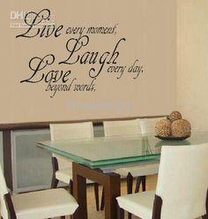 funlife-modern Wall Sticker-FAMILY LIVE LAUGH LOVE Vinyl Wall ...