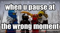 This is quite the rare sight in Ninjago. :P Even when Wu takes off his hat, he has some sort of black beanie on his head. XD<AHHH NO PUT IT AWAY! Lego Memes, Ninjago Memes, Ninjago Kai, Lego Ninjago Movie, Funny Memes, Hilarious, Jokes, Arte Ninja, Kids Shows