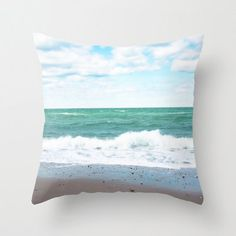 Throw Pillow Cover  Teal Blue Ocean by BrookeRyanPhoto on Etsy, $38.00