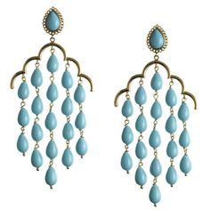 Turquoise chandelier earrings. Stunning!