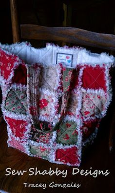 """Sew Shabby Designs: Rag Quilt Tote Bag. For sure on my """"to do"""" list @Emily Schoenfeld Rogers"""
