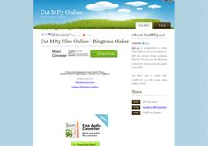 Cut MP3 Online :: Cuts MP3 locally (No need to upload MP3) & make ringtone online.