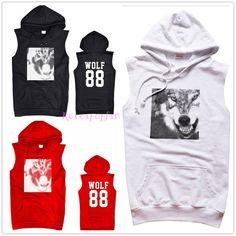 EXO Wolf hoodie sleeveless