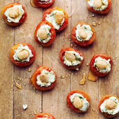 7 killer appetizers to kick off a potluck (sub w/Stone Wall honey balsalmic, no almond, plain goat cheese) yum