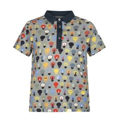 83d421540 Fendi Boys Grey Lightbulb Print Polo Shirt Boys Short Sleeve, Boys, Printed  , @ Chocolate - Luxury childrenswear for all occasions! Chocolate Clothing