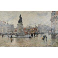 Louis Abel-Truchet, PARIS, LA PLACE CLICHY APRÈS LA PLUIE