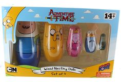 Amazon.com: Adventure Time Wood Nesting Dolls - Set of 5: Toys & Games