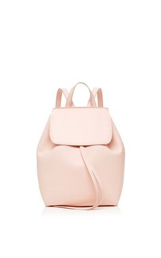 1c0dd8390f405 Mini Coated Leather Backpack In Rosa With Rosa Interior
