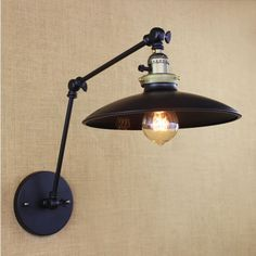ZZL American Minimalist Industrial Iron Long Arm Wall Lamp With Switch , Industrial Irons, Vintage Industrial Lighting, Led Wall Sconce, Wall Sconces, Loft Stil, Retro Bedrooms, Sconces Living Room, Wall Lights, Ceiling Lights
