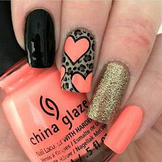 Hey there lovers of nail art! In this post we are going to share with you some Magnificent Nail Art Designs that are going to catch your eye and that you will want to copy for sure. Nail art is gaining more… Read Heart Nail Designs, Simple Nail Art Designs, Best Nail Art Designs, Pretty Designs, Creative Nail Designs, Coral Nail Art, Coral Nails, Coral Pink, Gold Nail
