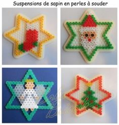 Chritmas ornaments hama perler beads by Babou Bricole Hama Beads Design, Diy Perler Beads, Perler Bead Art, Melty Bead Patterns, Hama Beads Patterns, Beading Patterns, Christmas Perler Beads, Christmas Ornaments, Christmas Crafts