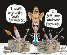 It shows how Obama contradicts himself when it comes to arming teorriots and drug cartels.