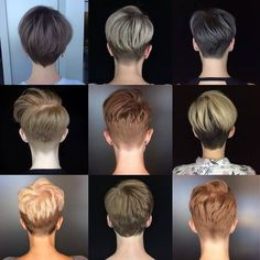 "This is awesome. Great grid from @courtneyxcentrichair who says, ""I got your back"" 😉 . . . . . #pixie #pixiecut #pixiehaircut #shortpixie…"