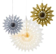 Metallic Paper Fan Decorations