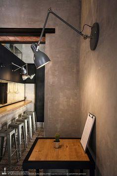 Palermo: il progetto 'Unto' firmato da Studio DiDeA Industrial Restaurant, Wall Lights, Ceiling Lights, Antique Shops, Palermo, Street Food, Track Lighting, Architecture Design, Interior Design