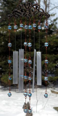 Seashell wind chimes bohemian gypsy beaded seashell wind for Wind chimes from recycled materials