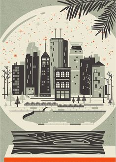 Saved by Jorge Flores (jorgeflores). Discover more of the best Winter, Retreat, Design, Work, and Life inspiration on Designspiration Minneapolis Skyline, Christmas In The City, Winter Images, Affinity Designer, Illustrations Posters, Vintage Illustrations, Winter Wonderland, Home Art, Crystals