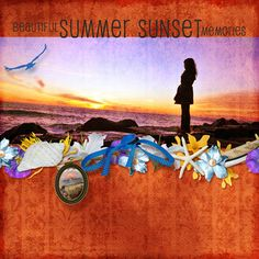 Layout using Summer Sunset by The Urban Fairy, available at digitalscrapbookingstudio.com #theurbanfairy