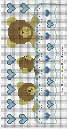 Cross Stitch Borders, Cross Stitch Baby, Cross Stitch Designs, Cross Stitching, Cross Patterns, Counted Cross Stitch Patterns, Cross Stitch Charts, Baby Patterns, Wool Embroidery