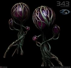 alien Plants for Halo 4 by Sky Kensok | 3D | CGSociety