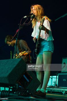 Joff Oddie and Ellie Rowsell perform with Wolf Alice at Clapham Common on July…