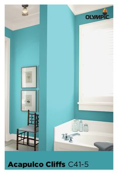 Bath Room Paint Blue Most Popular Ideas For 2019 Popular Bathroom Colors, Small Bathroom Inspiration, Blue Bathroom Paint, Blue Bathroom, Bathroom Tiles Grey White, Most Popular Paint Colors, Room Paint, Blue Paint, Blue Paint Colors