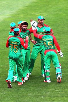 NELSON, NEW ZEALAND - MARCH 05: Sabbir Rahman of Bangladesh celebrates after claiming the wicket of Matt Machan of Scotland during the 2015 ICC Cricket World Cup match between Bangladesh and Scotland at Saxton Field on March 5, 2015 in Nelson, New Zealand.