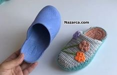Plastic Slippers With Knitting Techniques Knitting Blogs, Knitting For Beginners, Easy Knitting, Crochet Shoes, Crochet Slippers, Crochet Blanket Patterns, Knitting Patterns, Macrame Bag, Types Of Bag