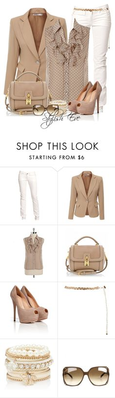 """""""Noha"""" by stylisheve ❤ liked on Polyvore featuring Replay, Doublju, Tahari by Arthur S. Levine, Dolce&Gabbana, Giuseppe Zanotti, Forever New and Gucci"""