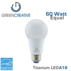 GREEN CREATIVE - Titanium - 9 Watt - A19 - 60 Watt Equal  sc 1 st  Pinterest & Forest Lighting 19 Watt - 4 Foot - T8 T12 LED Tube Light - DLC ...