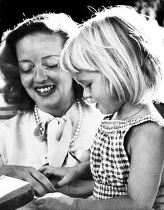 Bette Davis and her daughter
