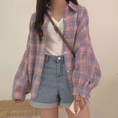 ulzzang fashion korean fashion aesthetic outfits s - Mode Outfits, Retro Outfits, Cute Casual Outfits, Girl Outfits, Fashion Outfits, Casual Clothes, Vintage Summer Outfits, Korean Casual Outfits, Fashion Ideas