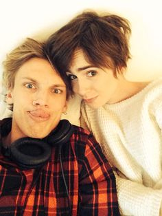Jamie Campbell Bower and Lily Collins