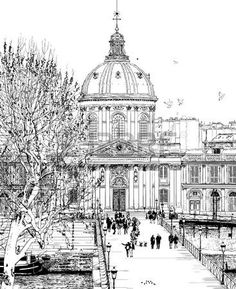 ilustraci�n de Pont des Arts en Par�s photo