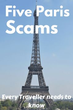Paris is a beautiful romantic city, but smart travellers know the common Paris tourist scams and how to avoid them.