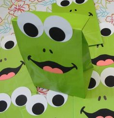 Frog Birthday Party Favor Treat Sacks Frogger Froggy Princess and Frog Prince Theme Goody Bags by jettabees on Etsy. $15.00, via Etsy.