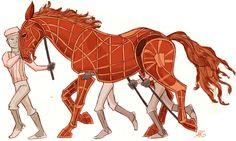 Sketch of the War Horse Puppet