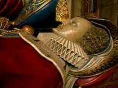 A Recumbent effigy on a tomb in Westminster Abbey