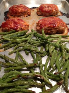 Mini Turkey Meatloaf and Maple Green Beans - One Pan Wonder - Recipe from Whole Foods Markets