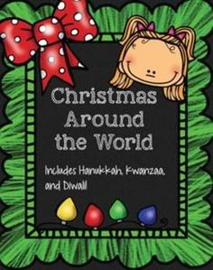 Christmas Around the World Interactive Notebook!! It includes 10 countries as well as Hanukkah, Kwanzaa, and Diwali. Each country has an interactive notebook page, a craft, and 2 coloring pages for fast finishers. 97 pages of activities!!$